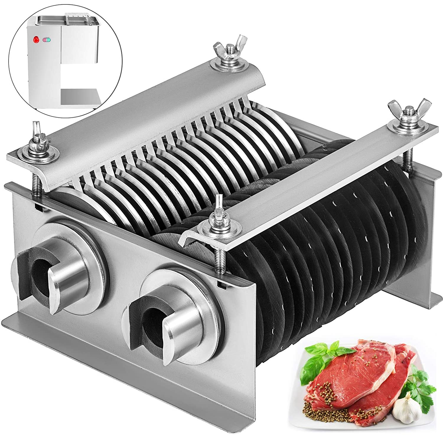 BestEquip One Set Blade 5mm for Vertical Meat Slicer 1100 LB H 550W Meat Cutting Machine 5mm Blade
