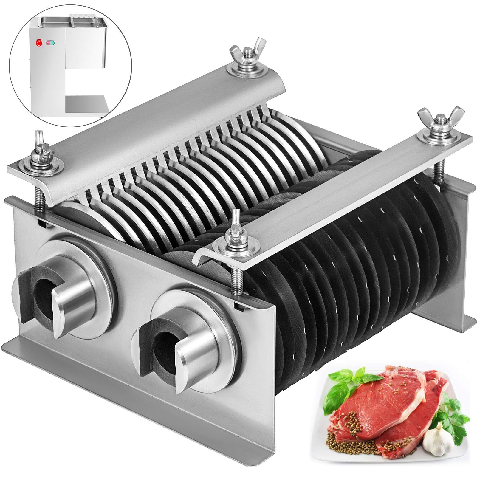 BestEquip One Set Blade 7mm for Vertical Meat Slicer 1100 LB/H 550W Meat Cutting Machine 7mm Blade by BestEquip
