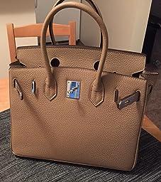 replica hermes birkin 40 - Amazon.com: Customer Reviews: Ainifeel Women's Padlock Handbags ...
