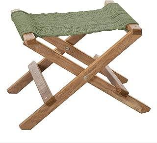 product image for Nags Head Hammocks Cumaru Folding Rope Footstool, Meadow DuraCord