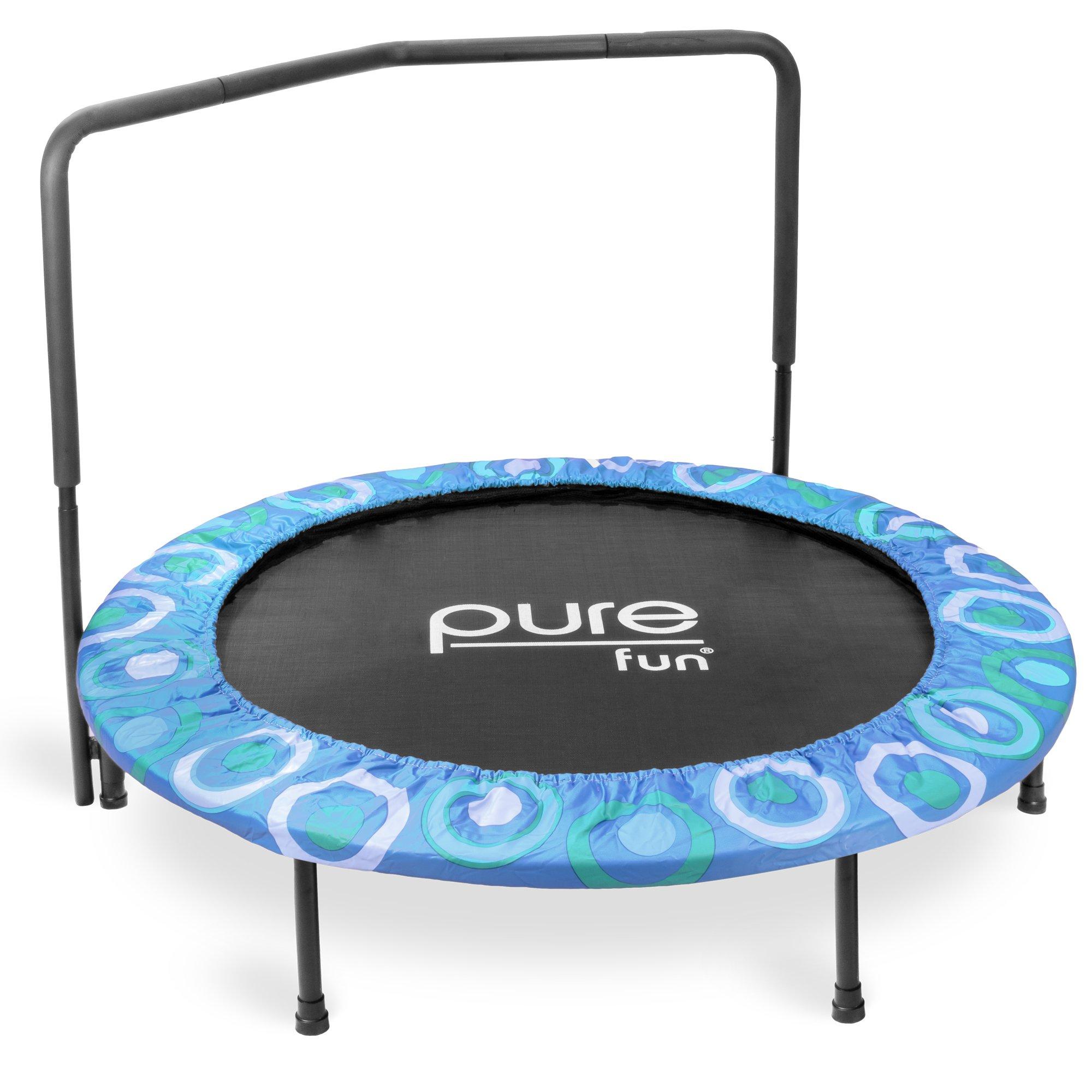 Pure Fun 9008SJ Super Jumper Kids Trampoline with Handrail, Blue - 48 Inches by Pure Fun