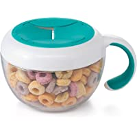OXO TOT Flippy Snack Cup with Travel Cover, Teal