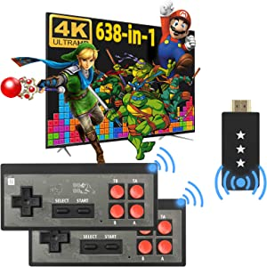 Fordim Retro Game Console,Wireless Controller,HDMI HD Output NES Game Console,Plug and Play Video Game Console,Built in 638 Classic Games,Mini Portable Host with TF Expansion,for Kids and Adult
