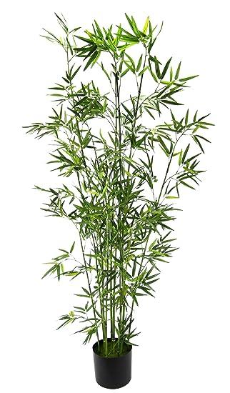 Flair Flower Bambus Im Topf Polyester Kunststoff Grun 120 X 18 X