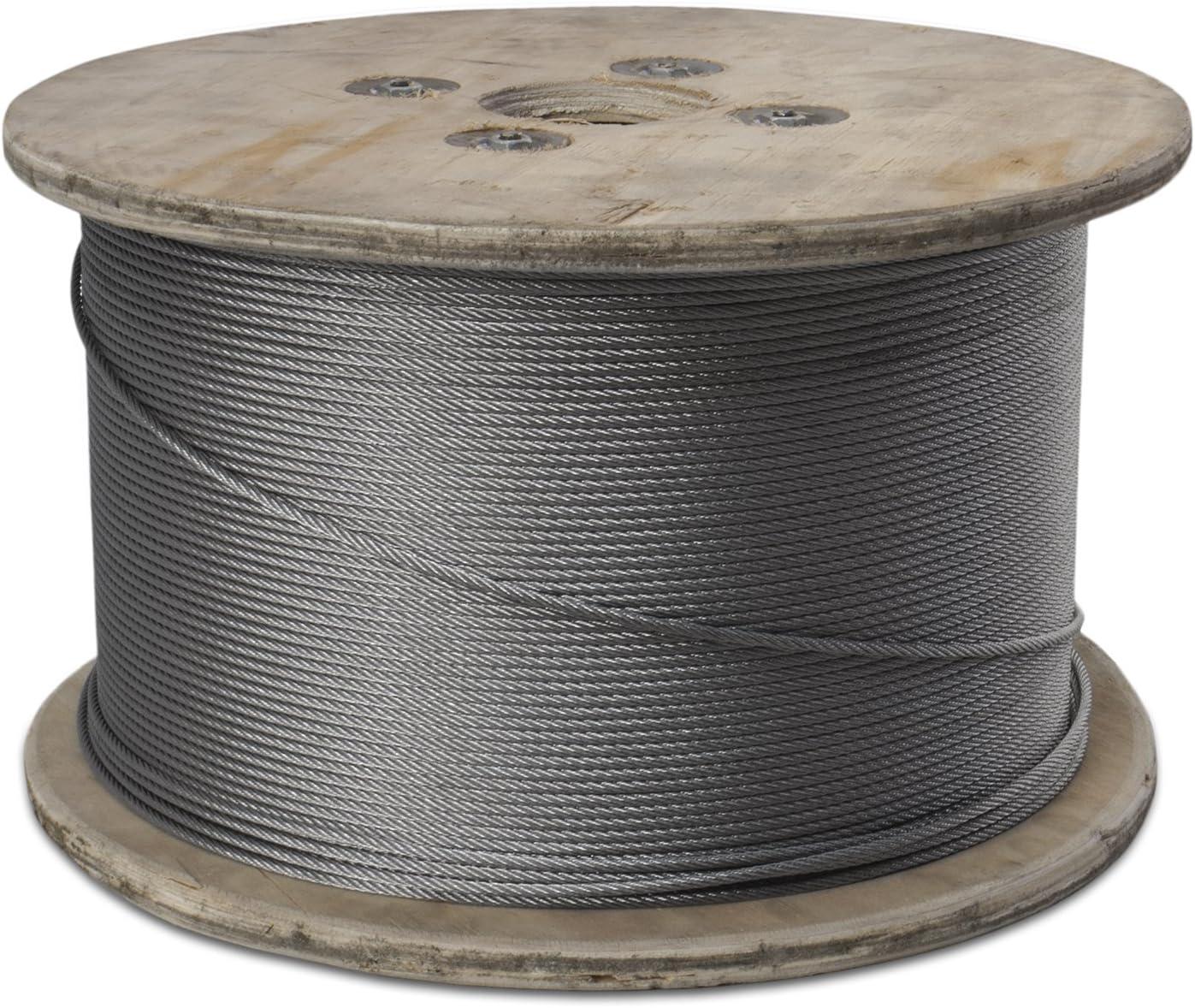 7x7 90m c/âble acier inox 5mm cordage torons