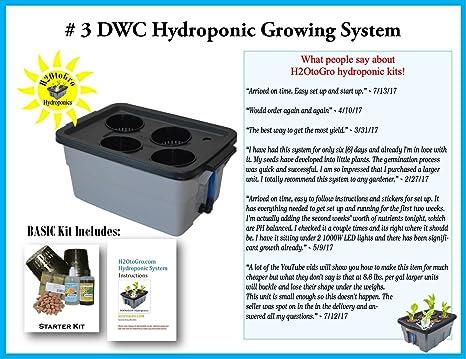 Amazon Com Complete Hydroponic System Dwc Grow Kit 3 4 By