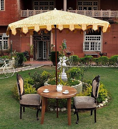 Sombrilla de jardín cuadrada grande Patio paraguas: Amazon.es: Jardín