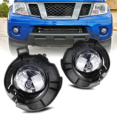 AUTOSAVER88 Factory Style Fog Lights Clear Glass Lens With Bezel For Nissan  Frontier 2005 2015