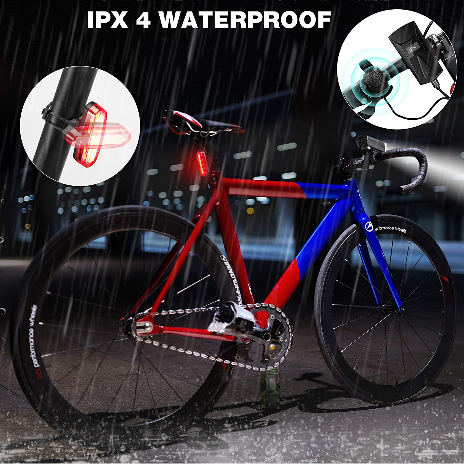 Details about  /6 x LED Flashlight 5Mode Zoomable Bike Bicycle Front Light Bike Holder