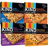 KIND Healthy Whole Grains Granola Snack Bars, (Count 4) Variety Pack with Peanut Butter and Dark Chocolate, Vanilla Blueberry, Oats & Honey and Maple Pumpkin Seeds Flavors
