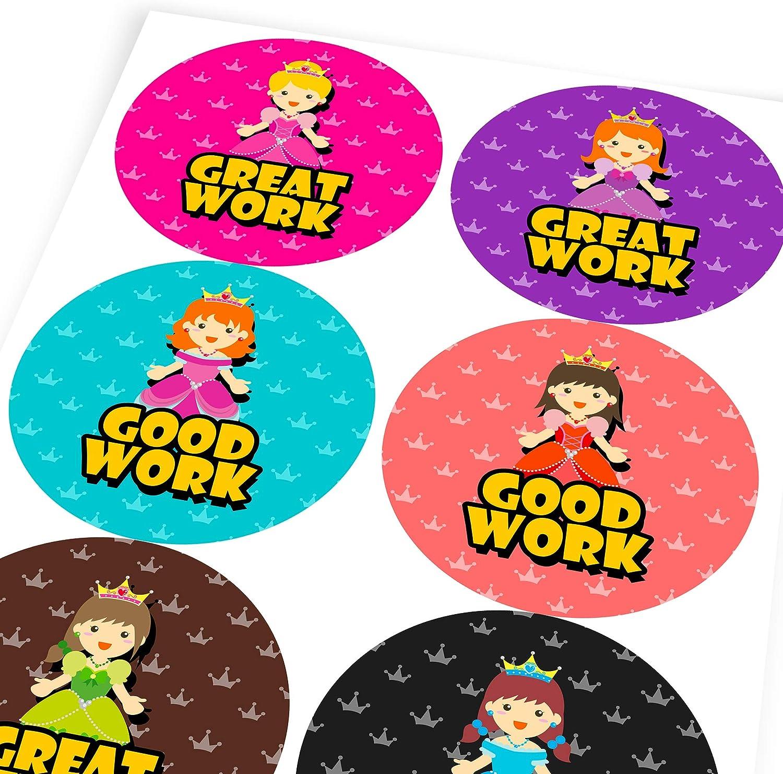 Adorable Princess Reward Sticker Labels Children Teacher Praise Parent School