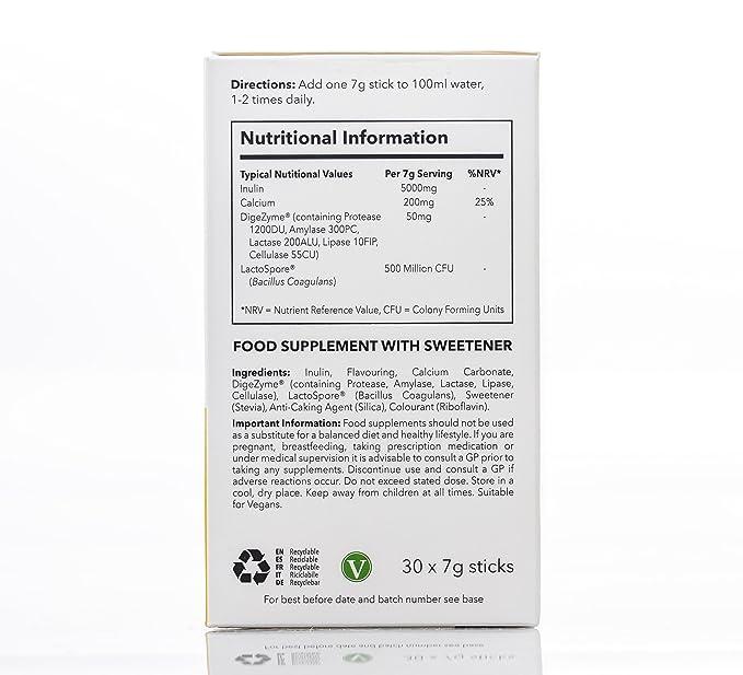 SimplyGo ProBio - Probiótico sabor vainilla con inulina para favorecer la microbiota - Apto para veganos - SimplySupplements: Amazon.es: Salud y cuidado ...