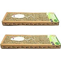 Cooper & Pals 2pk Cat Scratch Pads | 375x120x25 Milimetre Cat Scratch Pad Made From Recycled Cardboard | 100% Non-Toxic & Safe Cat Scratch Box Set