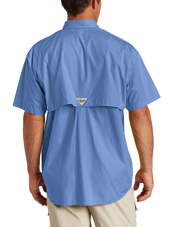 Columbia Mens Bonehead Short Sleeve Shirt,Bright Bluet,XL
