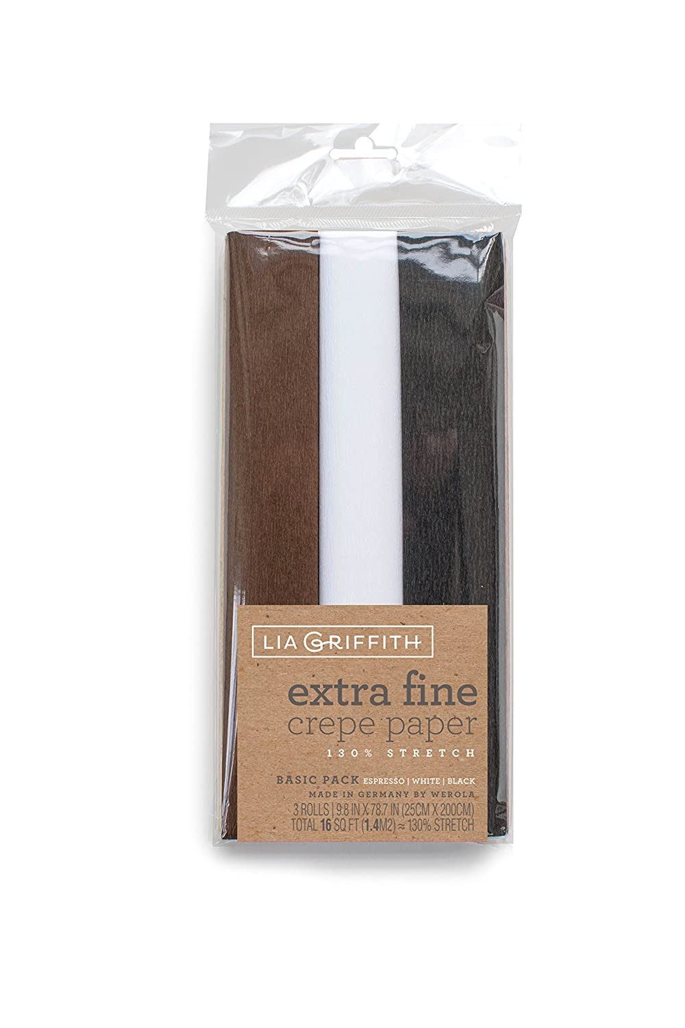 Lia Griffith Extra Fine Crepe Paper, Basic Assortment, 3 Count Pacon Corporation LG11030