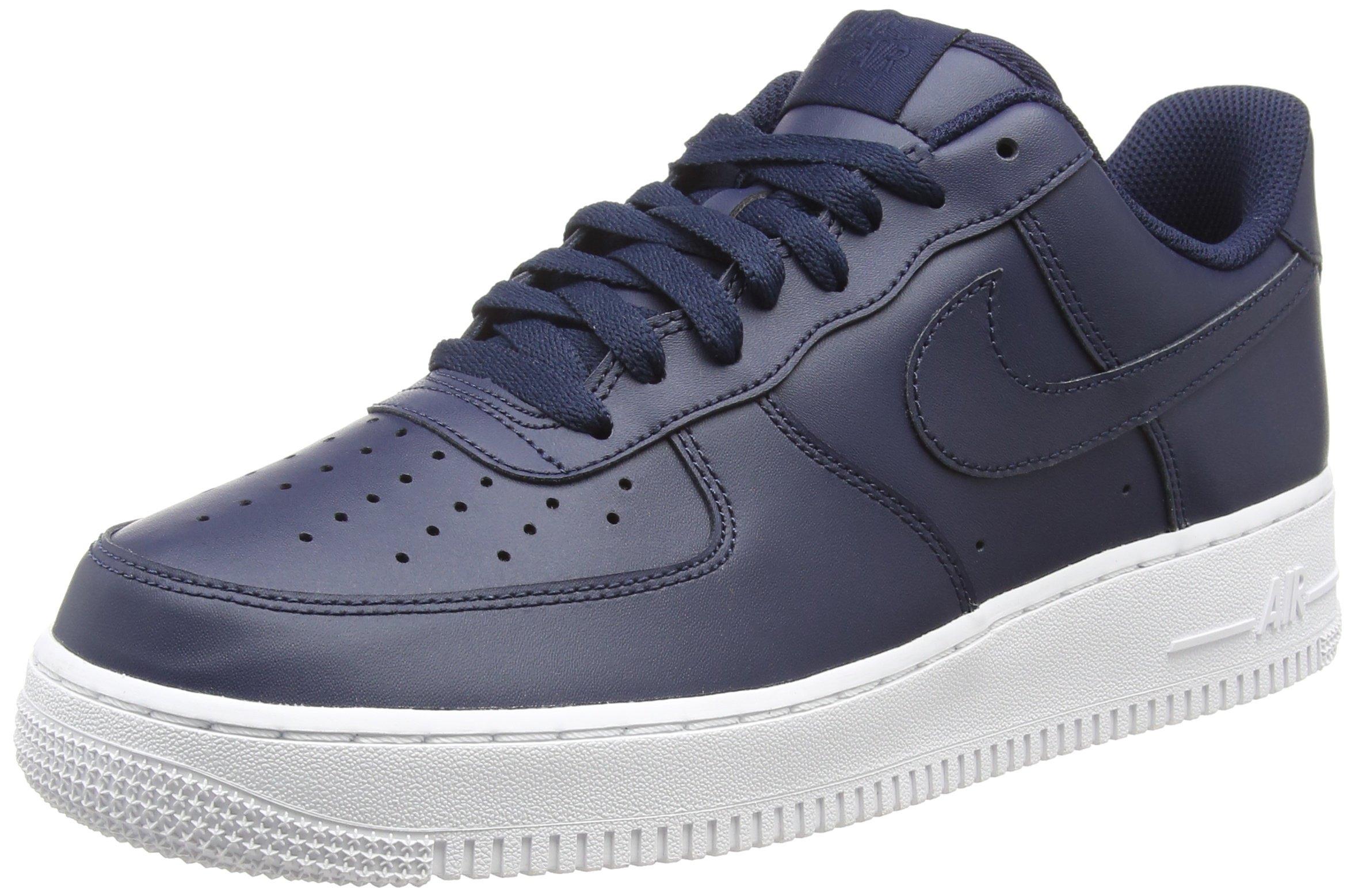 release date 89791 73f05 Galleon - NIKE Air Force 1  07, Men s Low-Top Sneakers, Blue  (Obsidian Obsidian-White 400), 10 UK (45 EU)