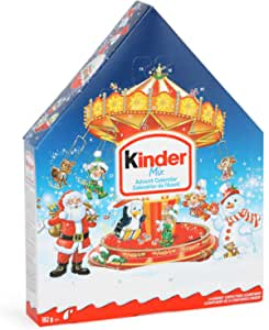 Kinder Christmas Advent Calendar, 24 Count Assorted Chocolates, 14 Calendars, 5.0 Kilograms