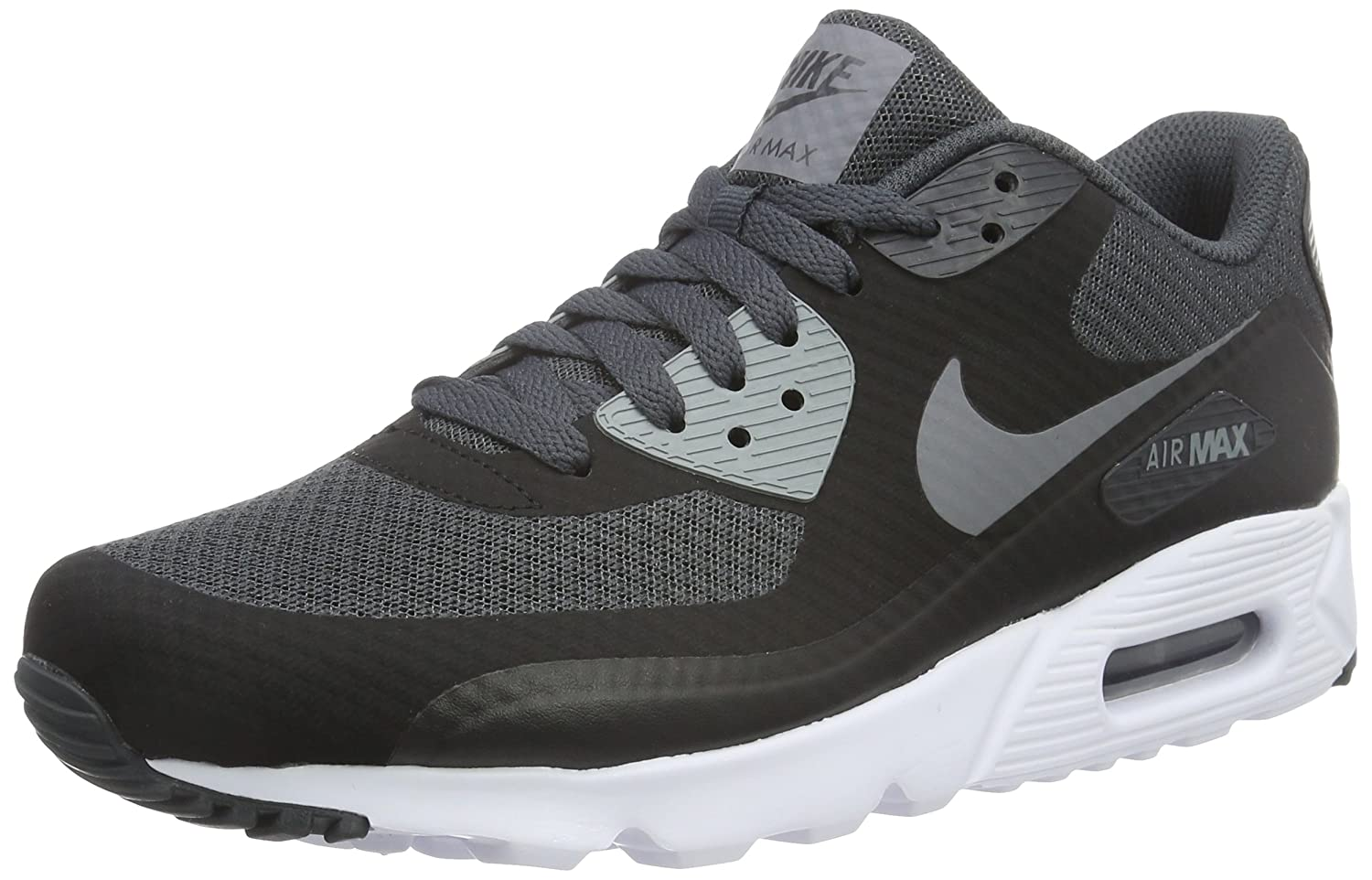 quite nice 65b78 4f4a2 Amazon.com | NIKE Air Max 90 Ultra Essential Black/Cool  Grey-Anthracite-White (8 D(M) US, Black/Cool Grey-Anthracite-White) | Road  Running