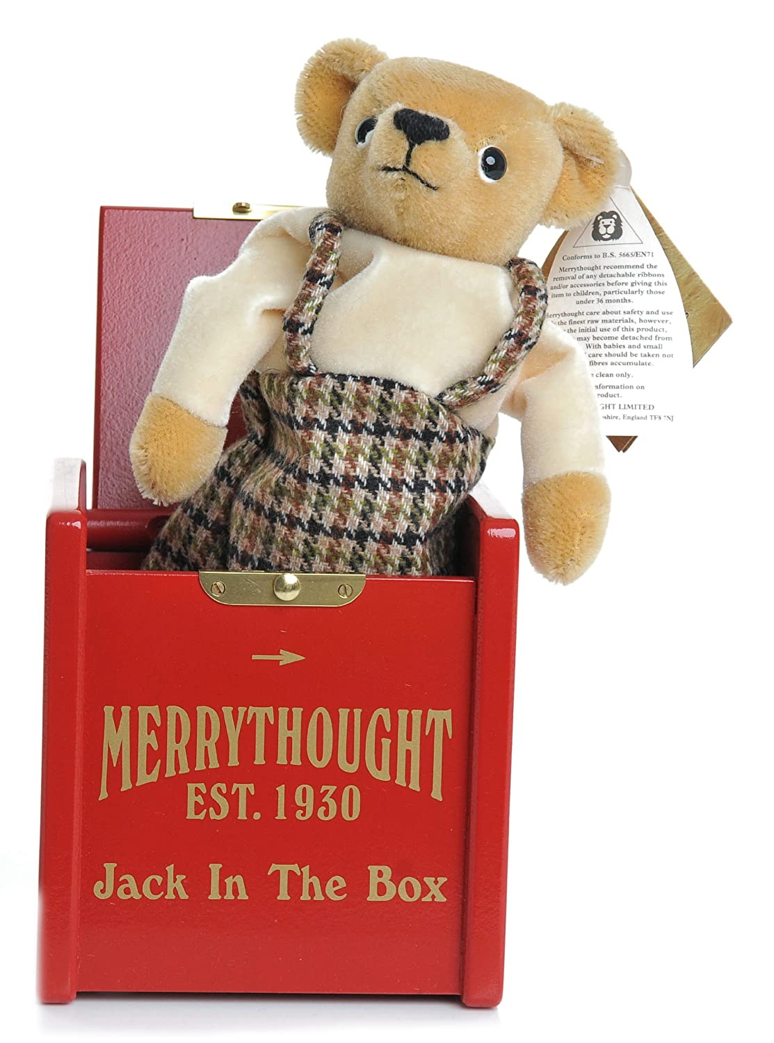 Jack in a Box Mischeif Bear By Merrythought - Retired [Toy]: Amazon