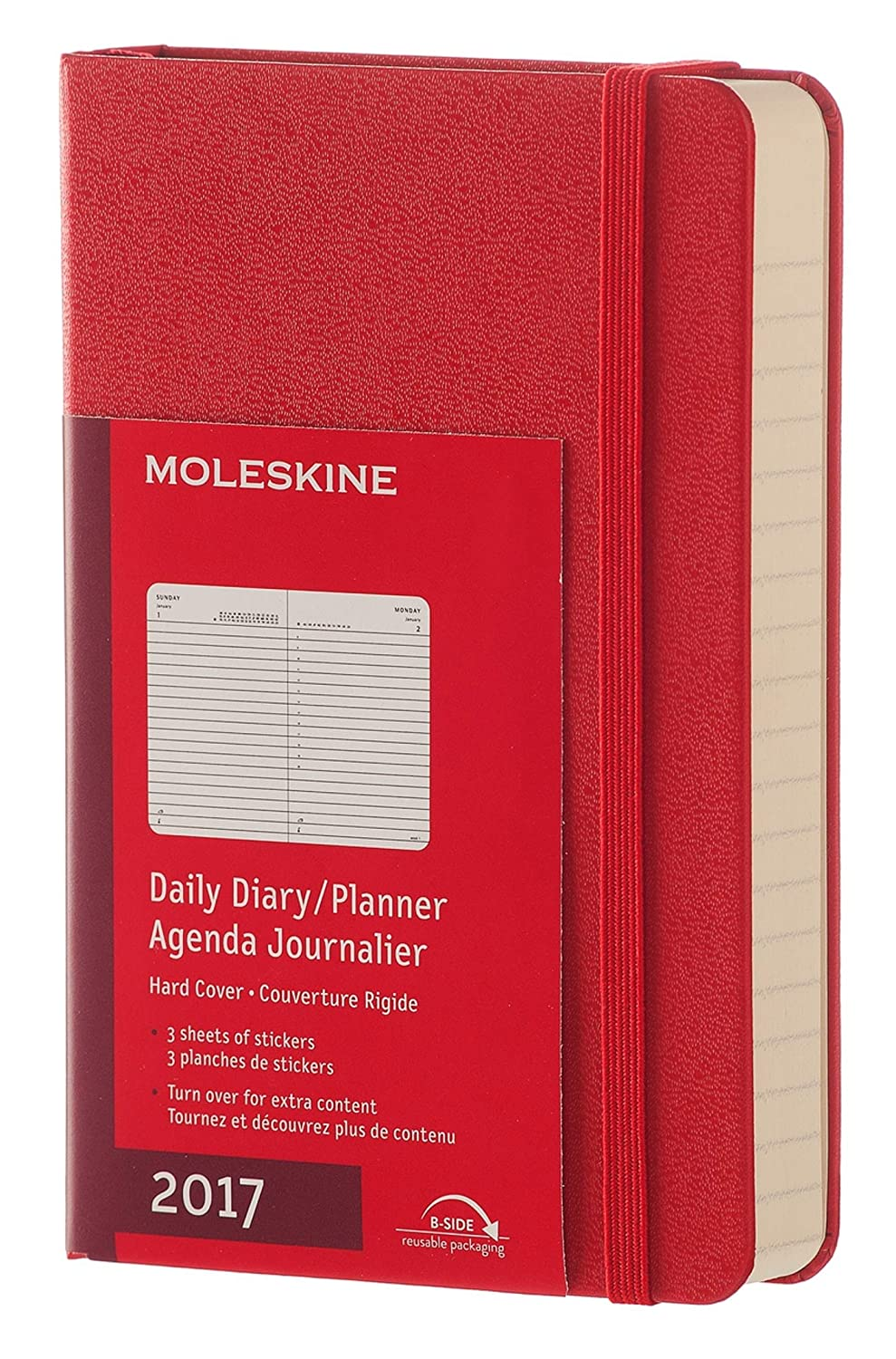 Amazon.com : Moleskine Classic 12 Month 2017 Daily Planner ...