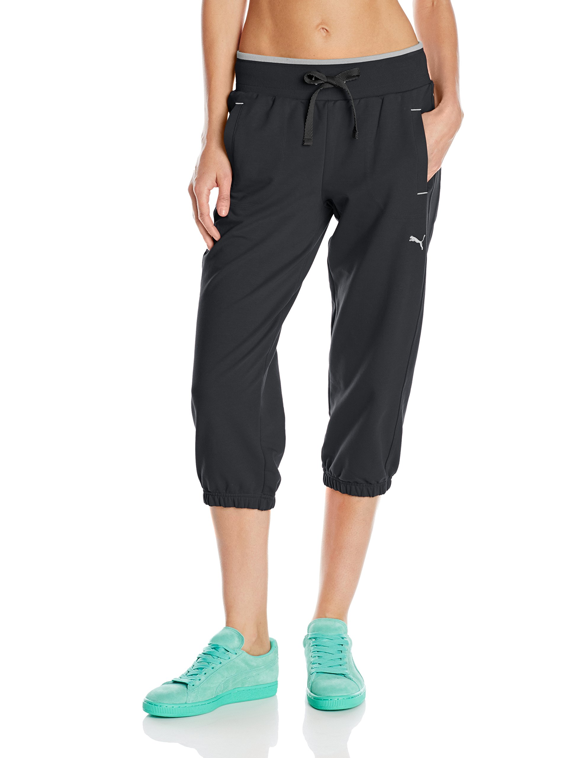 PUMA Women's Sweat Capri, Black, Large
