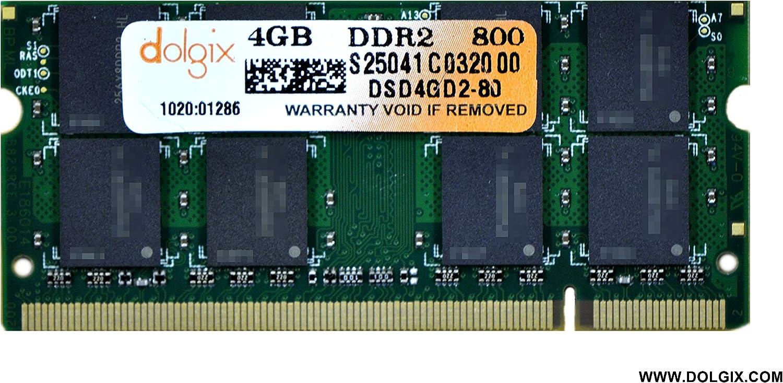 DOLGIX 4GB DDR2 800MHz (PC2-6400) Pin-200 Laptop Memory Module RAM Upgrade