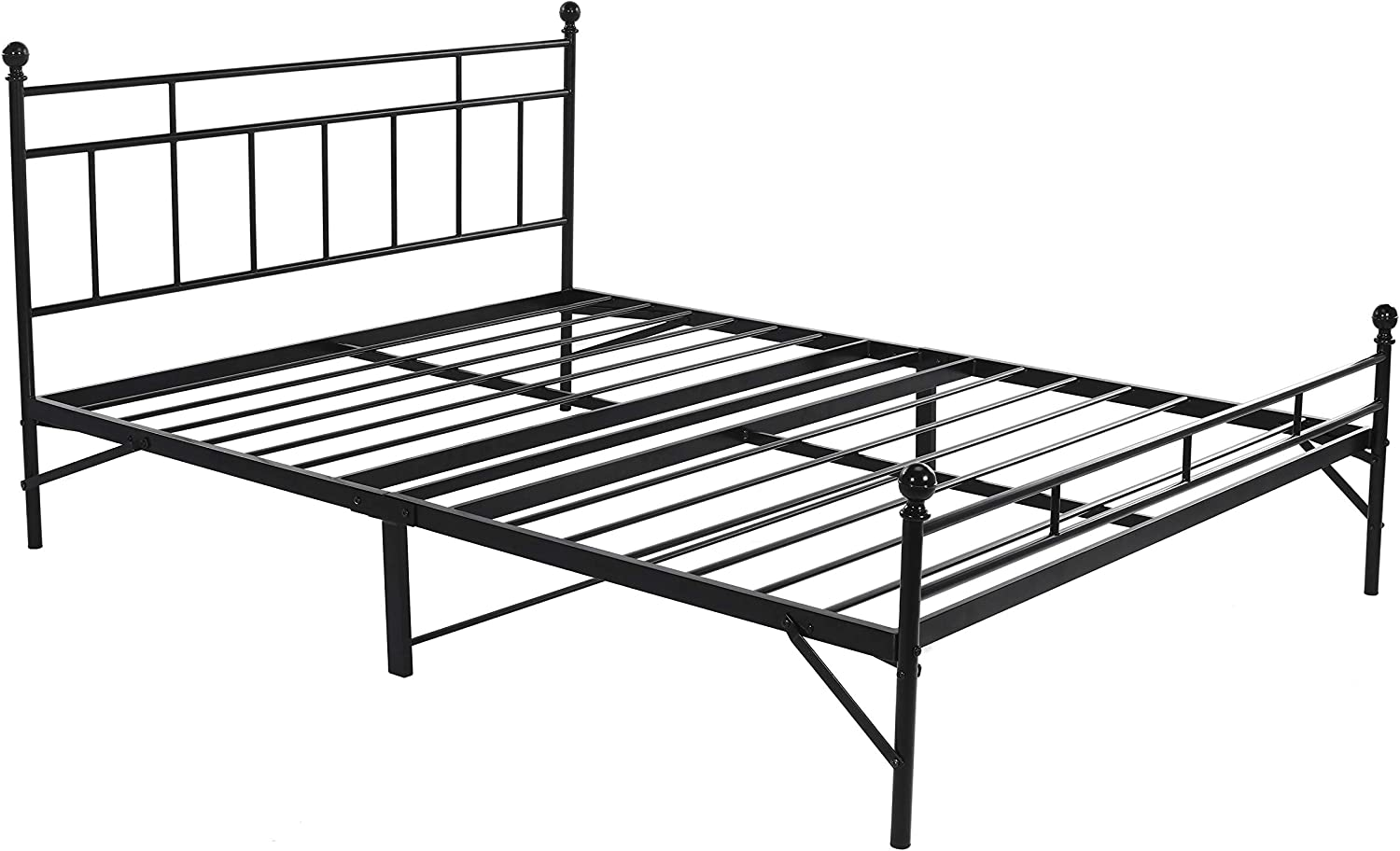 modern farmhouse black bed