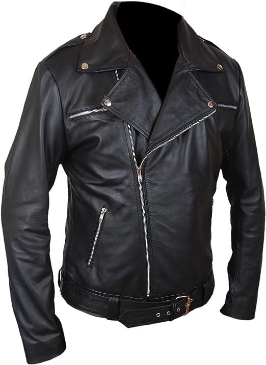 Flesh & Hide F&H Men's The Walking Dead Negan Genuine Leather Jacket