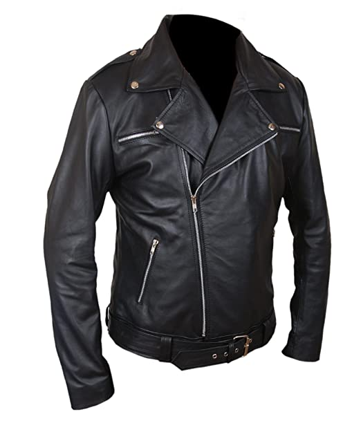 Flesh & Hide F&H Kids The Walking Dead Negan Genuine Leather Jacket