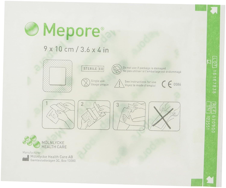 Jeu de 50 pansements adhé sifs, tissu non tissé , dos Semi-permé able, sté riles, 9 x 10 cm. tissu non tissé dos Semi-perméable stériles 9 x 10cm. Molnlycke 670900