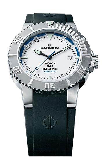 Candino Deep C4262-1 - Reloj de caballero automático con correa de goma negra: Amazon.es: Relojes