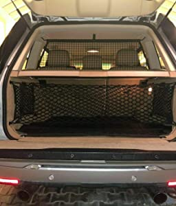 eAccessoriesUSA Rear Trunk Envelope Style Cargo Nets for Land Rover Range Rover 2003-2017 Area Space Vertical Storage Organizer Web Mesh Luggage Bungee Compartment Red De Carga Del Maletero Trasero