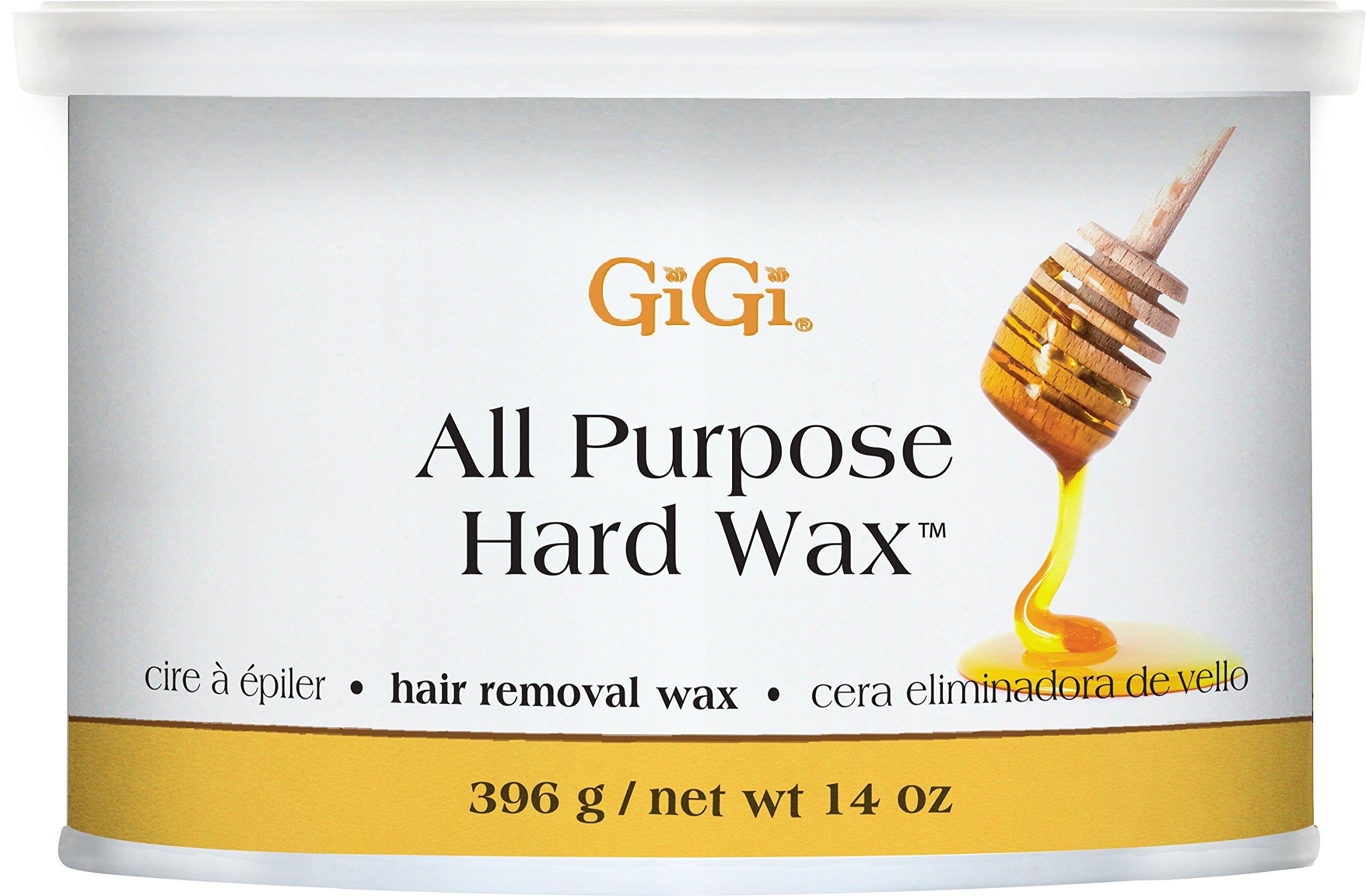 Gigi All Purpose Hard Wax Honey Hair Removal Wax 396 g/net Wt 14 oz
