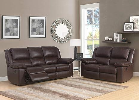 SC Furniture Ltd Sofá reclinable Manual de Piel de Alta ...