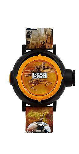 Star Wars Infantil Reloj Digital con Pantalla Digital de Esfera Naranja Correa de PU swm3116: Amazon.es: Relojes
