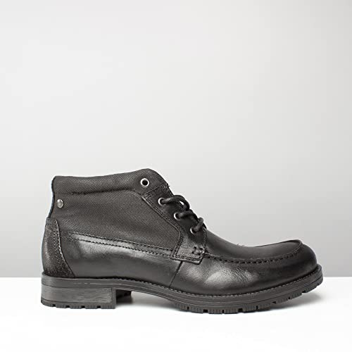 Jack & Jones JFWFOREST MID - Lace-up boots - anthracite cFtr5GJ