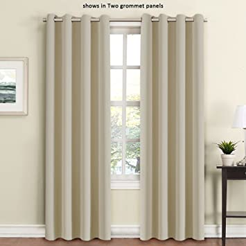 Living Room Curtains amazon living room curtains : Amazon.com: FlamingoP Living Room Curtains, Light Blocking Solid ...