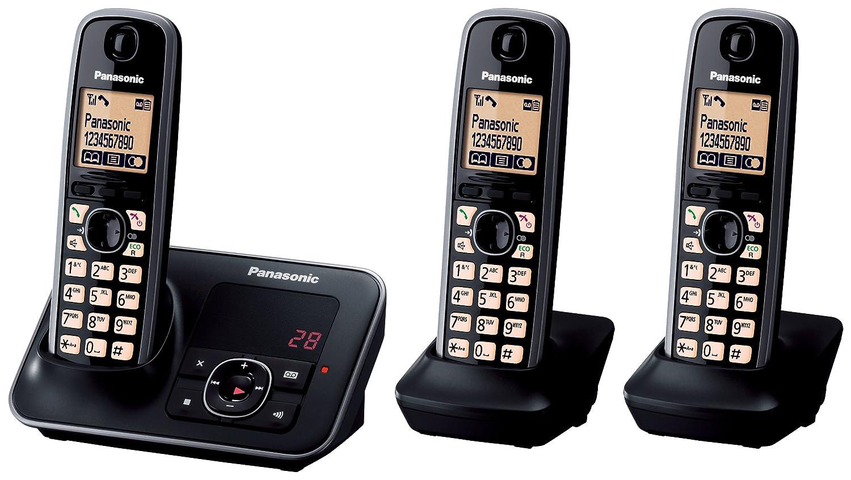 11be521e782a Panasonic KX-TG6623EB Triple Digital Cordless Phone Set: Amazon.co.uk:  Electronics