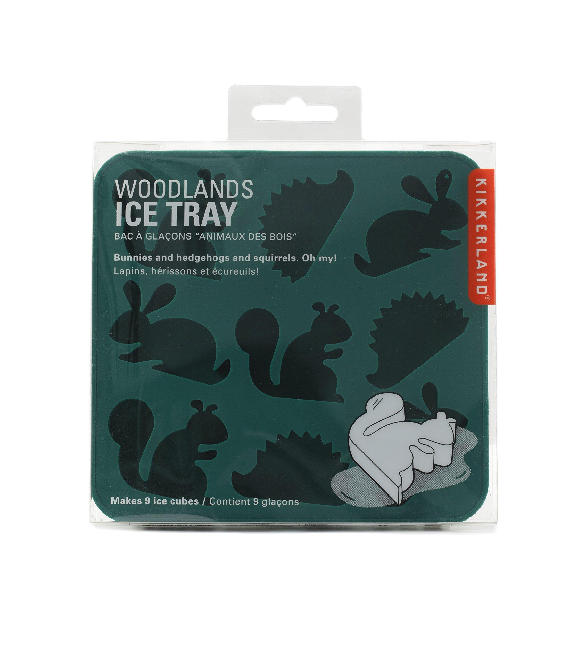 Kikkerland Woodlands Ice Tray, Green