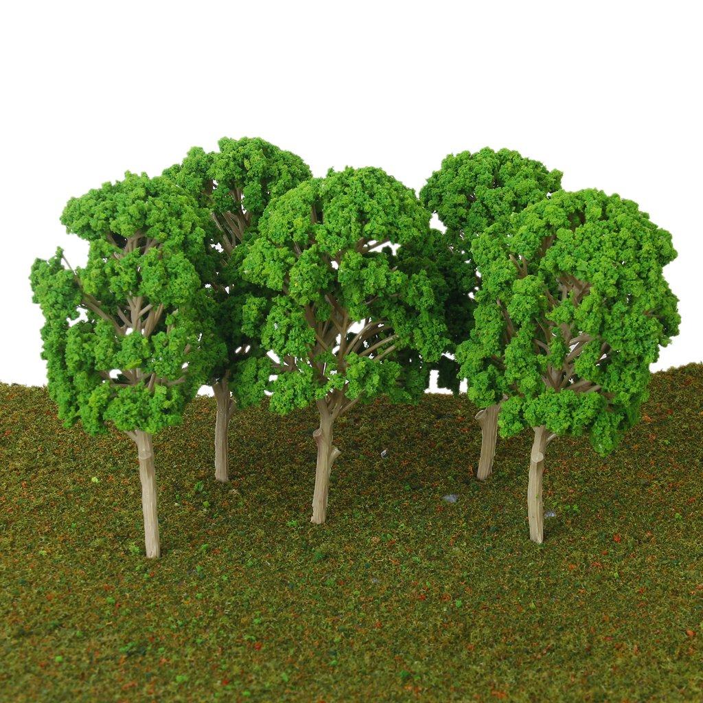 B Baosity 15 Unids Mini /Árbol Modelos de Mora de 15cm Tren Construcci/ón de Paisajes Ferroviarios