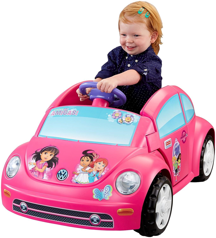 amazoncom power wheels nickelodeon dora and friends volkswagen new beetle toys games