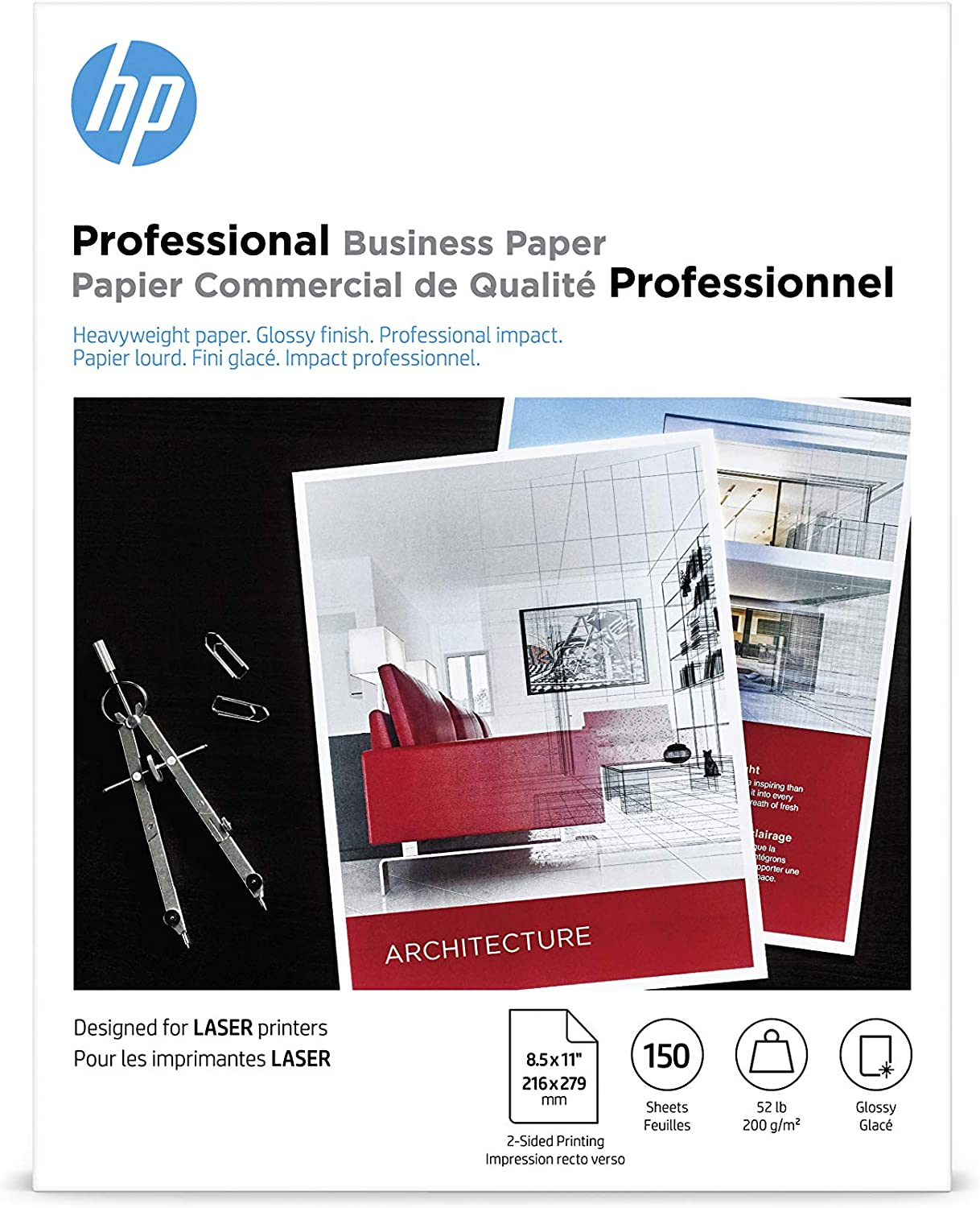 HP Professional Business Paper | Glossy Laser | 8.5x11 | 150 Sheets