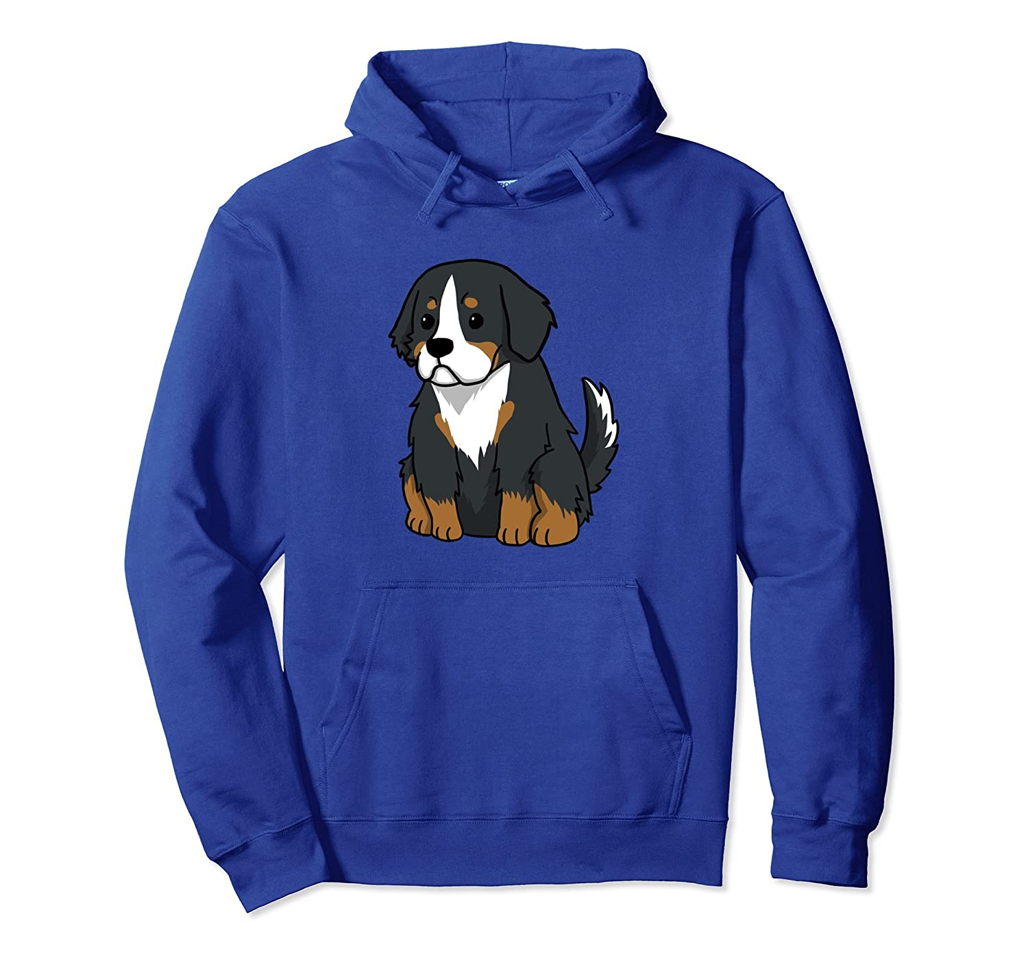 Bernese Mountain Dog Cartoon Pullover Hoodie Funny Dog Gift-TH