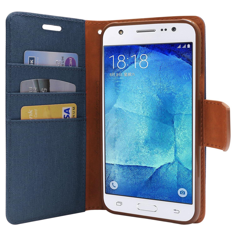 Dmg Mercury Goospery Canvas Diary Wallet Folio Book Samsung Galaxy J5 Prime Case Blue Electronics