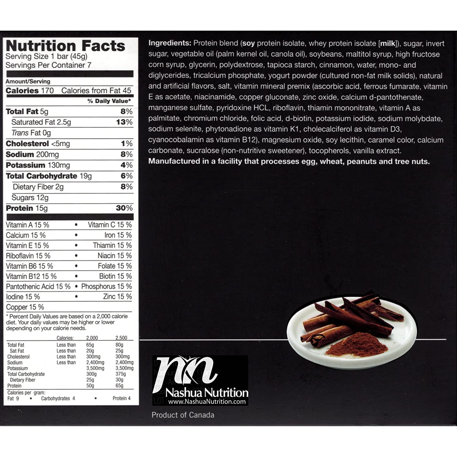 Amazon.com : Proti-Thin - Nutty Caramel Crunch - Protein Bar - Ideal Protein Compatible - 15g Protein - Low Carb Diet Bar - Gluten Free (7/Box) : Grocery ...
