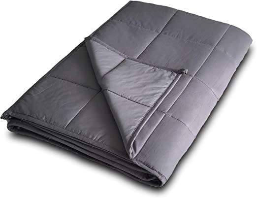 """Navy Blue 15 Cotton Weighted Queen Blanket 20 lb Weighted 60/"""" X 80/"""" Blanket"""