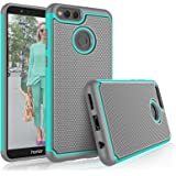 Honor 7X Case, 2018 Huawei Mate SE Cute Case, Tekcoo [Tmajor] Shock Absorbing [Turquoise] Hybrid Rubber Silicone & Plastic Scratch Resistant Bumper Rugged Grip Hard Sturdy Cases Cover