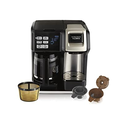 Hamilton Beach (49950C) Coffee Maker, Single Serve & Full Coffee Pot, Compatible with K-Cup Packs or Ground Coffee, Programmable, Includes Gold Tone Filter