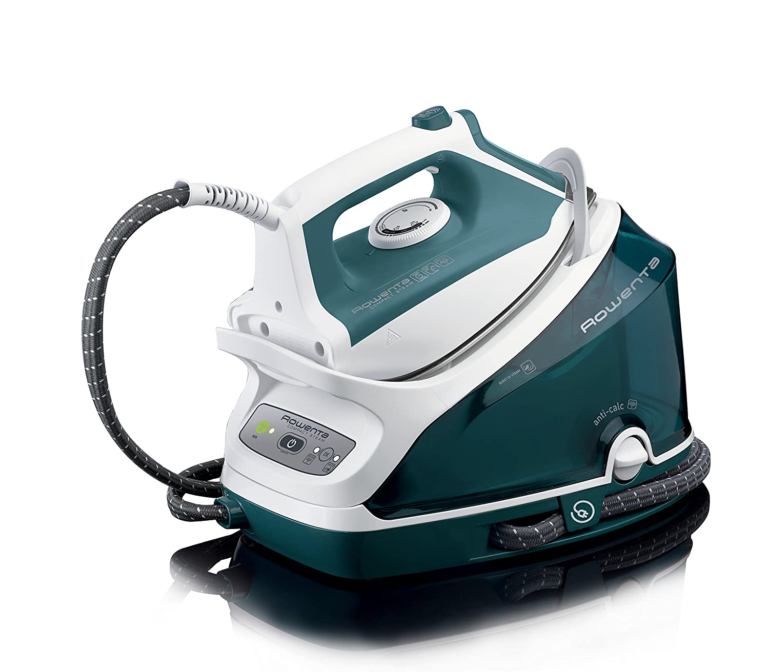 Cleaning rowenta pressure iron and steamer - Amazon Com Rowenta Dg7530 Compact Steam 1800 Watt Steam Iron Station Stainless Steel Soleplate 400 Hole Green Home Kitchen