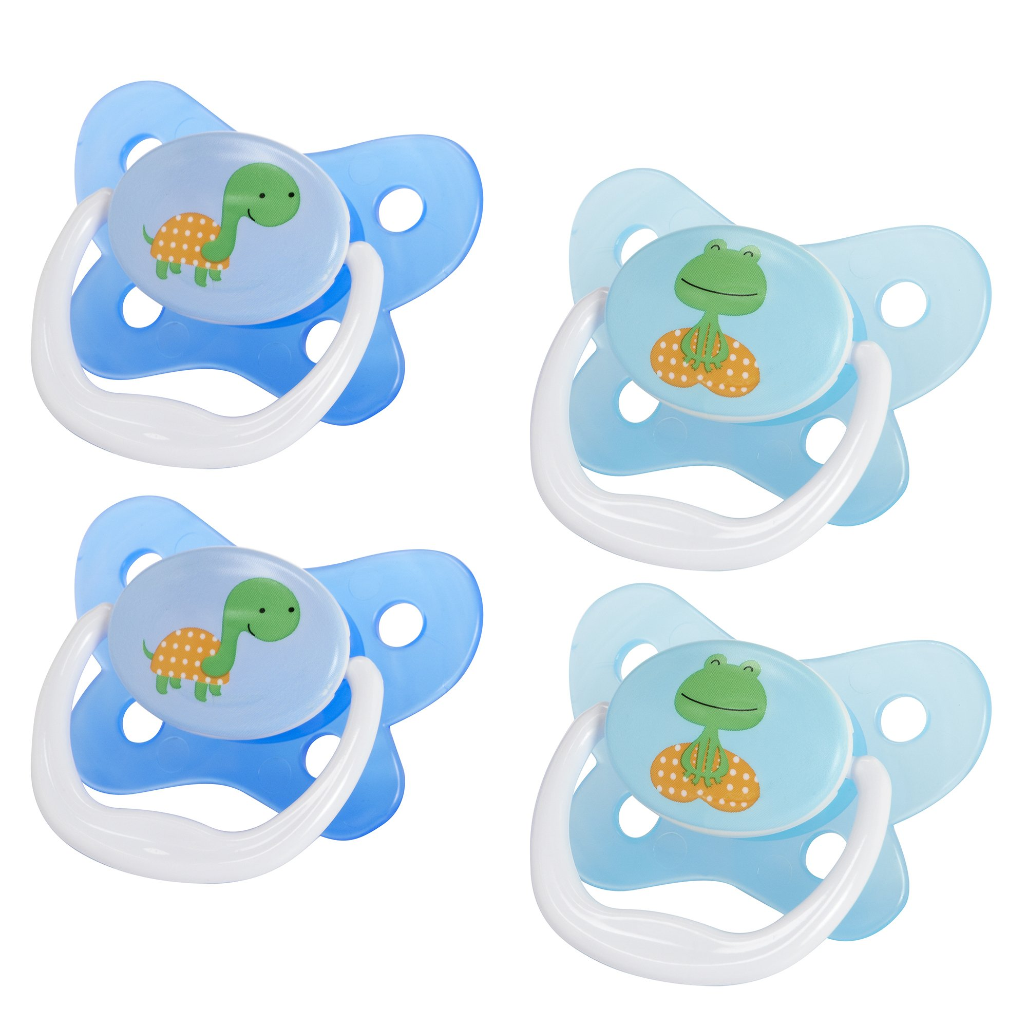 Dr. Brown's Prevent Contour Pacifier, Stage 3 (12m+), Polka Dots Blue, 4-Pack by Dr. Brown's